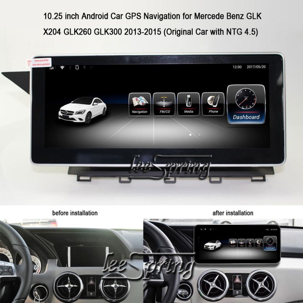 10.25 pouces Android 6.0 voiture GPS Navigation pour mercedes Benz GLK X204 GLK260 GLK300 2013-2015 (voiture d'origine avec NTG 4.5)