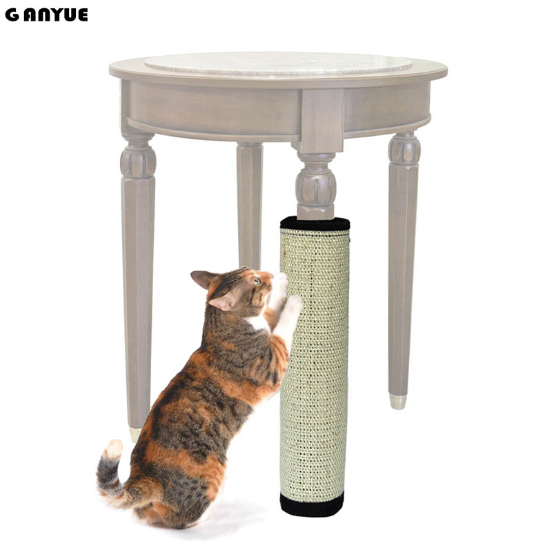 Ganyue Natural Sisal Cat Scratching Post Mat Protecting Furniture Cat Scratcher Board Toy Furniture Protector Cat Gripper  Toy
