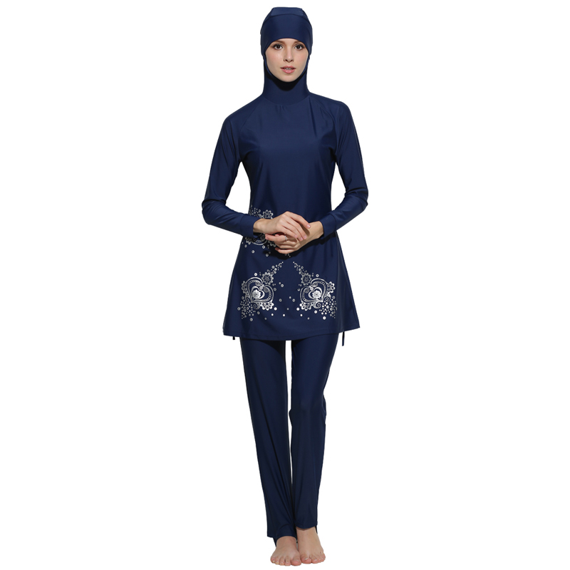 Muslim Swimwear Women Burkinis Musulman Swimsuit Female Bathing Wear Modest Islamic Full Cover Floral Swim Suits