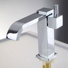 Латунь хром ванной бассейна кран холодной воды только одной ручкой на одно отверстие водопроводной воды torneira banheiro faucets, Смесители и краны