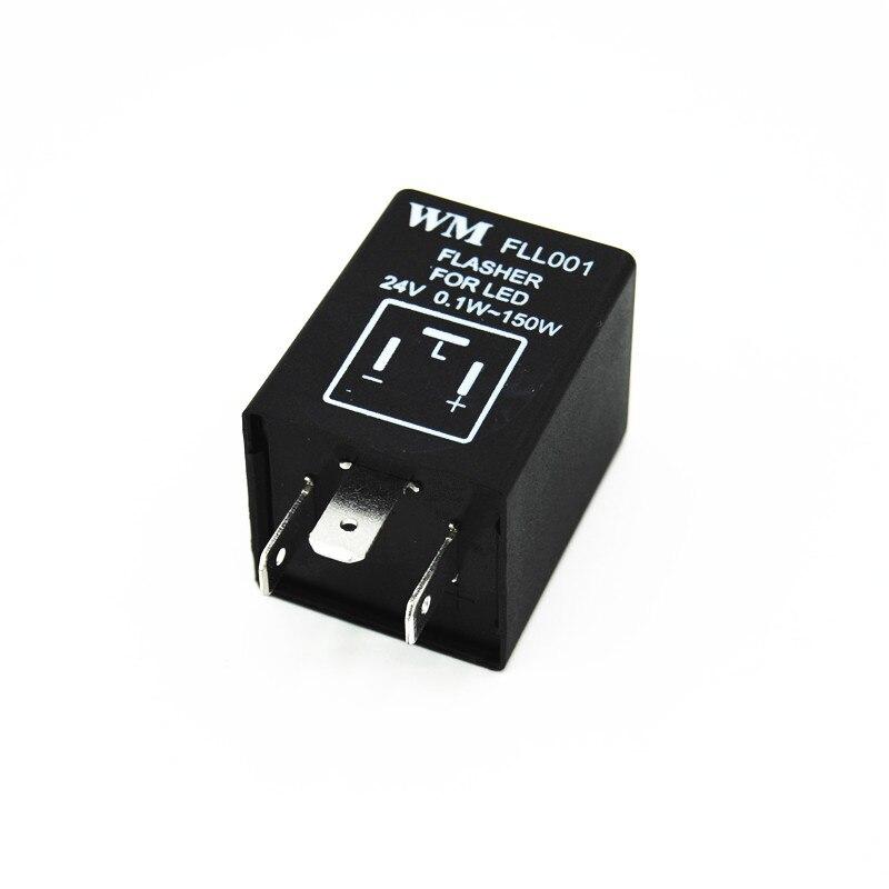 24V 3Pin 0.1W-150W 12V Car LED Turn Signal Lamps Hyper Flash Electronic Relay Fix Motorcycle Flasher Blinker Indicator Light