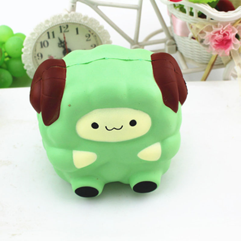 Jumbo 12cm Cartoon Big Sheep Squishy Toy Slow Rising Squeeze Stress Reliever Phone Strap DIY Decor Birthday Christmas Gift P20