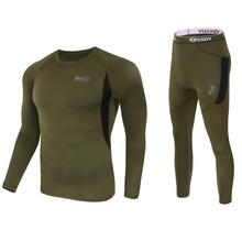 Top quality Men's Winter Tactical Thermal Underwear Sets Compression Fleece Sweat Quick Drying Thermo Long Johns Men Clothing