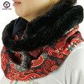 2016 новый большой кольцо стиль печатные женщины зима шейный платок шарфы многоцветный флис тип вокруг шеи Женщины Обертывания дамы глушитель