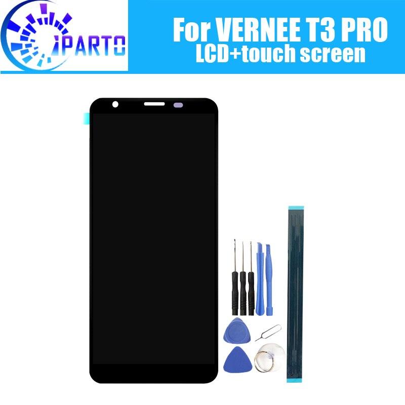 5.5 polegada VERNEE T3 PRO Display LCD + de Tela de Toque Original de 100% Testado LCD Digitador de Vidro Substituição Do Painel Para VERNEE t3 PRO