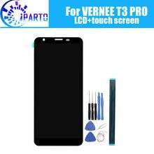 5.5 بوصة فيرني T3 برو شاشة الكريستال السائل + شاشة تعمل باللمس 100% الأصلي اختبار LCD محول الأرقام زجاج لوحة استبدال ل فيرني T3 برو