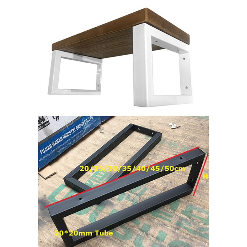 US $41 36 12% OFF|1Pair(2 PCS)/Lot White Black Wall Mounted Shelf Bracket  Brackets Support With Screws Square tube Frame-in Furniture Legs from