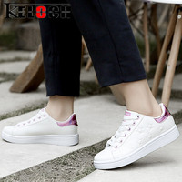 Keloch New Summer White Women Casual Flats Shoes Student Winter Keep Warm Shoes Women Sneakers Fashion