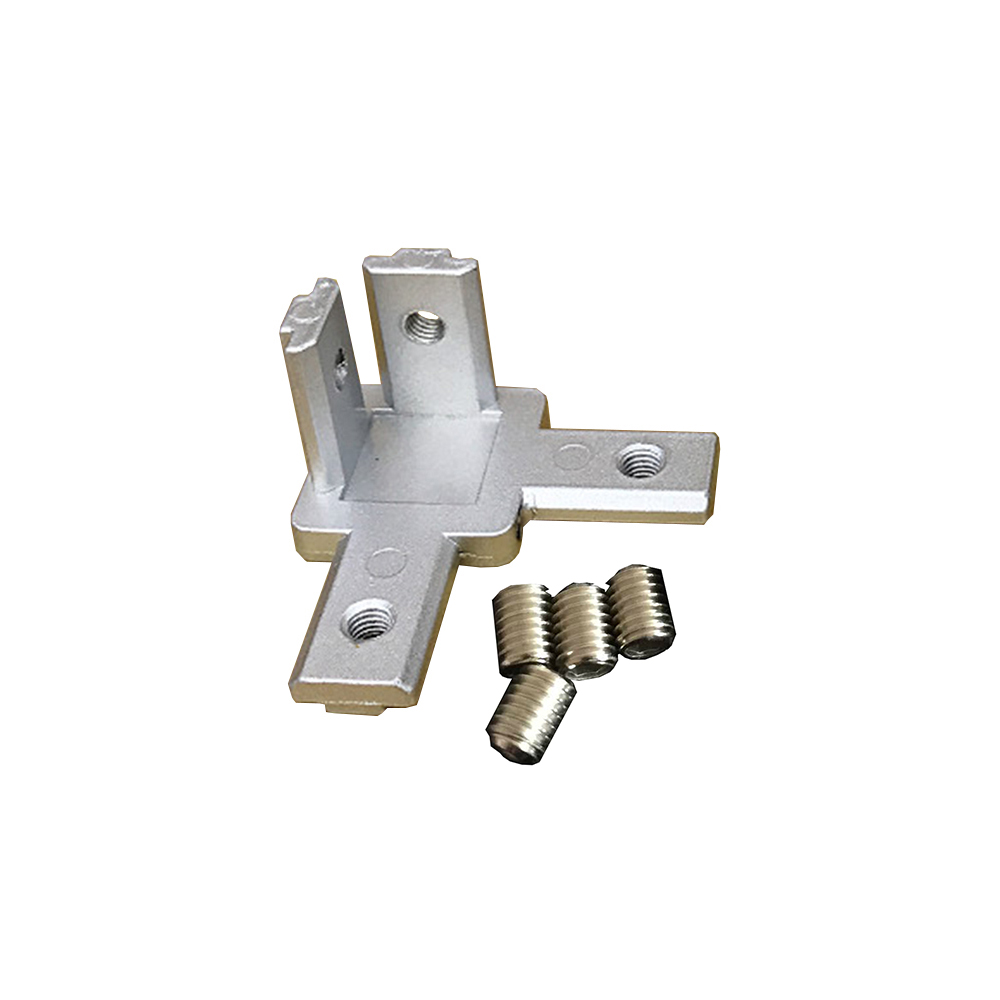 3-Way End Corner Bracket Connector For T Slot Aluminum Extrusion Profile 2020/3030 Series Pack Of 1