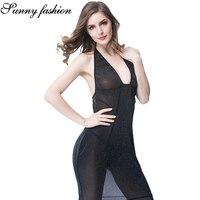 Sexy Halter Deep V Lingerie Dress Women's Ruffle Dress Babydoll Sleepwear Pajamas Lingeries Hot Sexy Erotic Night Porno Thong