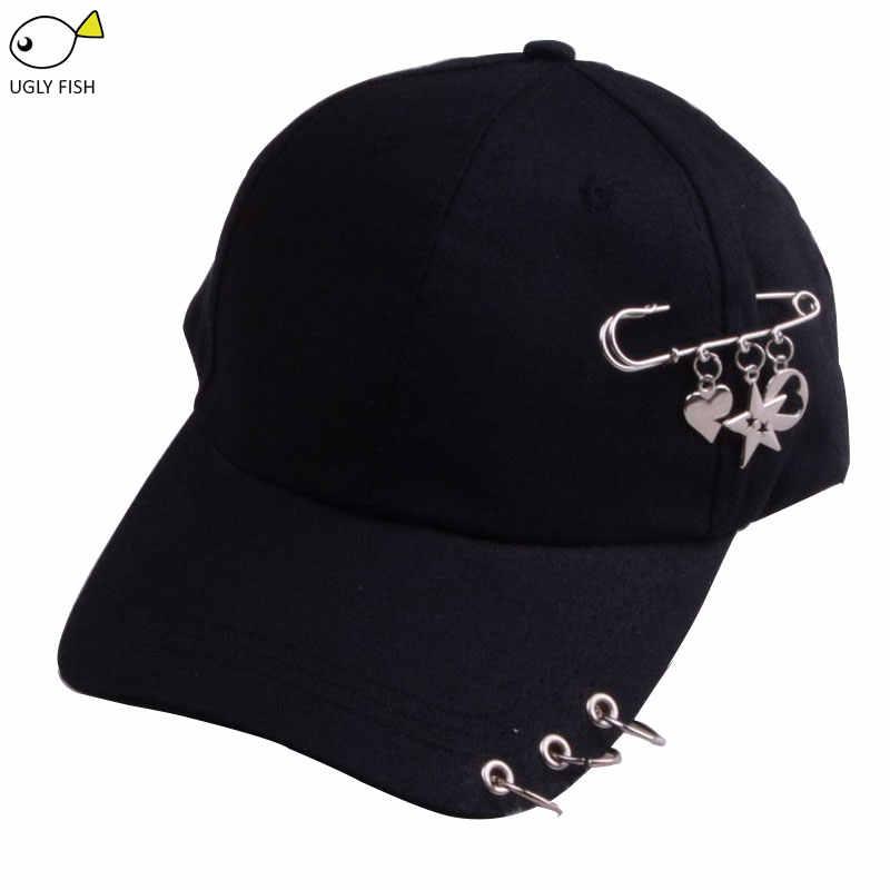 Mũ bóng chày với nhẫn cha hats đối với phụ nữ nam giới baseball cap phụ nữ trắng đen mũ bóng chày nam giới cha hat