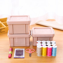 hot deal buy 25in1 new styles special offer spools assorted colors sewing threads needles set sewing tools kit.sewing tool storage box.