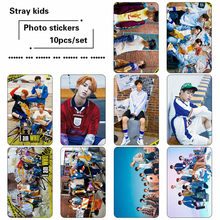 10pcs/set Kpop Stray kids photo cards sticker Fashion album Stray kids photo card sticker photocard(China)