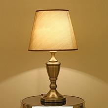 Cloth desk lamp floor lamp bedside bedroom American modern lamp high-end hotel room light living room study table light lantern