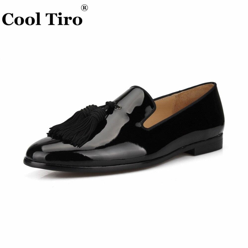 بارد تيرو الأسود براءات أحذية جلدية بدون كعب الرجال الأخفاف شرابات النعال الزفاف حفلة موسيقية الرجال اللباس أحذية الأعمال الشقق حذاء كاجوال-في أحذية رجالية غير رسمية من أحذية على  مجموعة 3