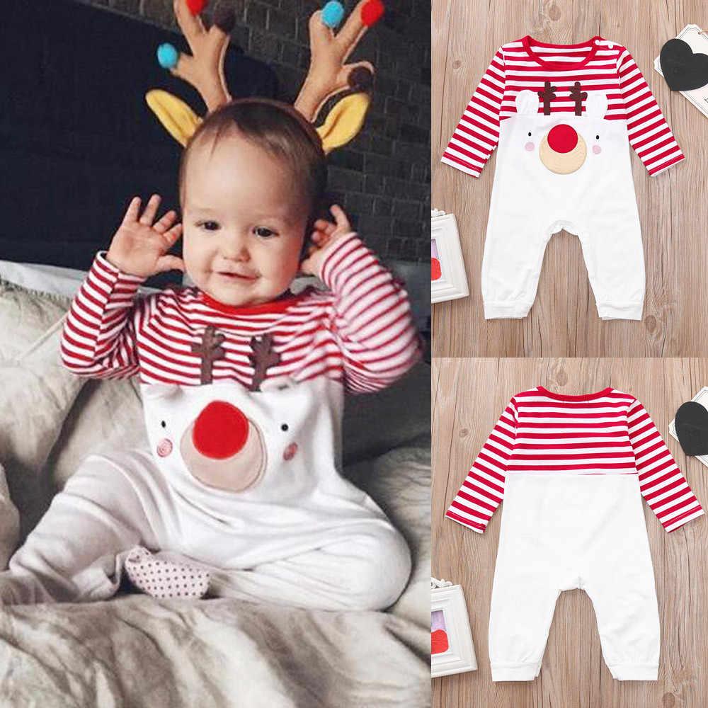 7bd678448 ARLONEET Christmas Clothes Children Baby Girls boys Cartoon Deer 1PCS Long  Sleeves Romper Cloth 2018 Fashion