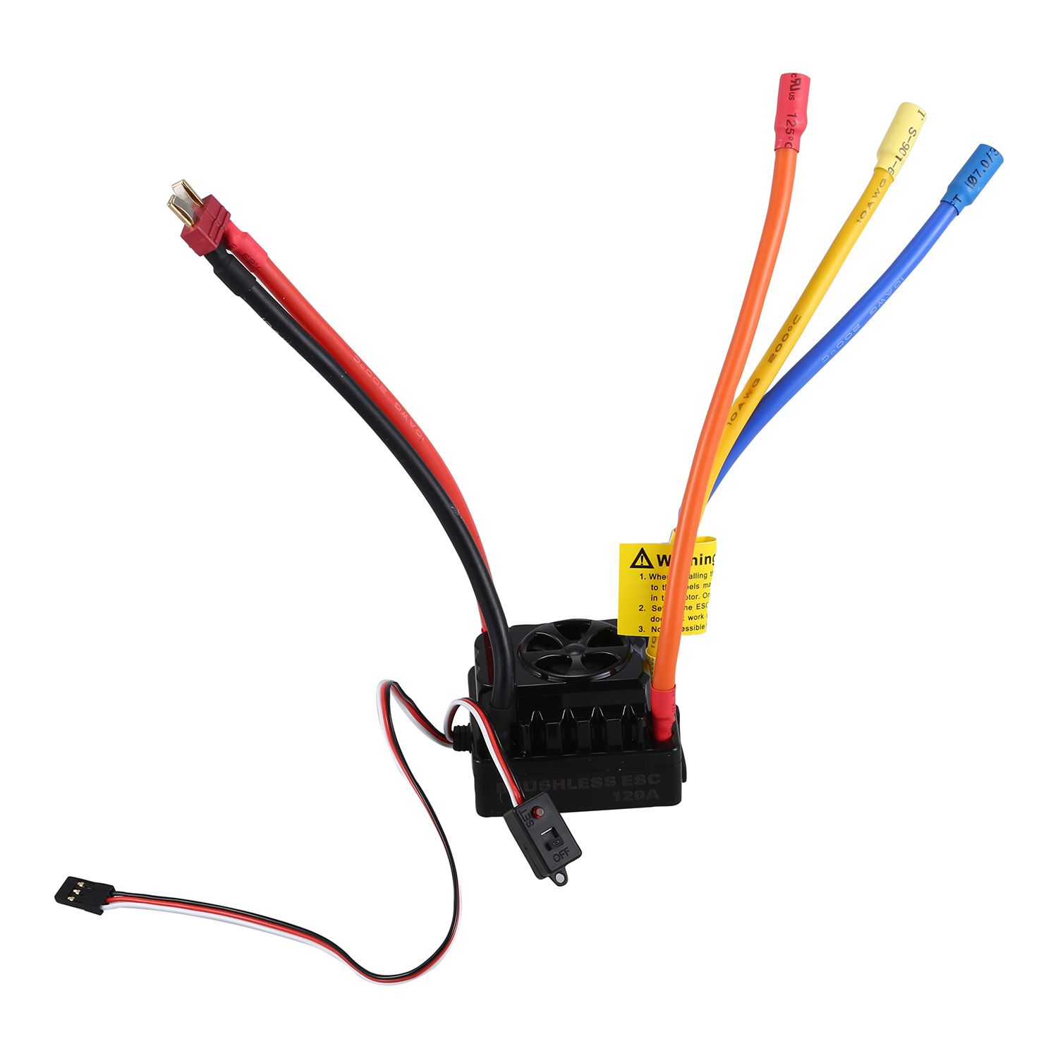 купить LCLL-SURPASS HOBBY 4076 2000KV Sensorless Brushless Motor & 120A Brushless ESC with 6V/3A Switch Programming Card Combo Set fo по цене 5586.67 рублей