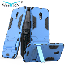 WeeYRN 3-in-1 Hybrid Shockproof Military Case Meizu M6S / M6 Armor Hard Stand Heavy Duty Back Cover Funda