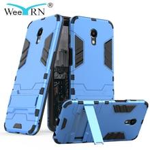 WeeYRN 3-in-1 Hybrid Shockproof Military Case Meizu M6S / M6 Armor Hard Stand Case Meizu M6 Heavy Duty Back Cover Meizu M6 Funda цена и фото