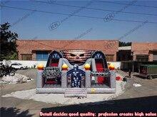 Halloween theme Inflatable bouncer slide ghost bouncy castle combo