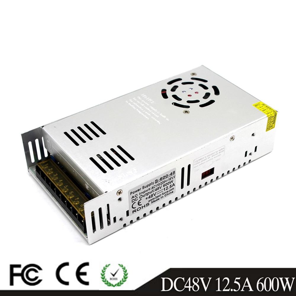 600W 48V 12 5A Single Output Small Volum Switch power supply Driver Transformer AC110V 220V TO
