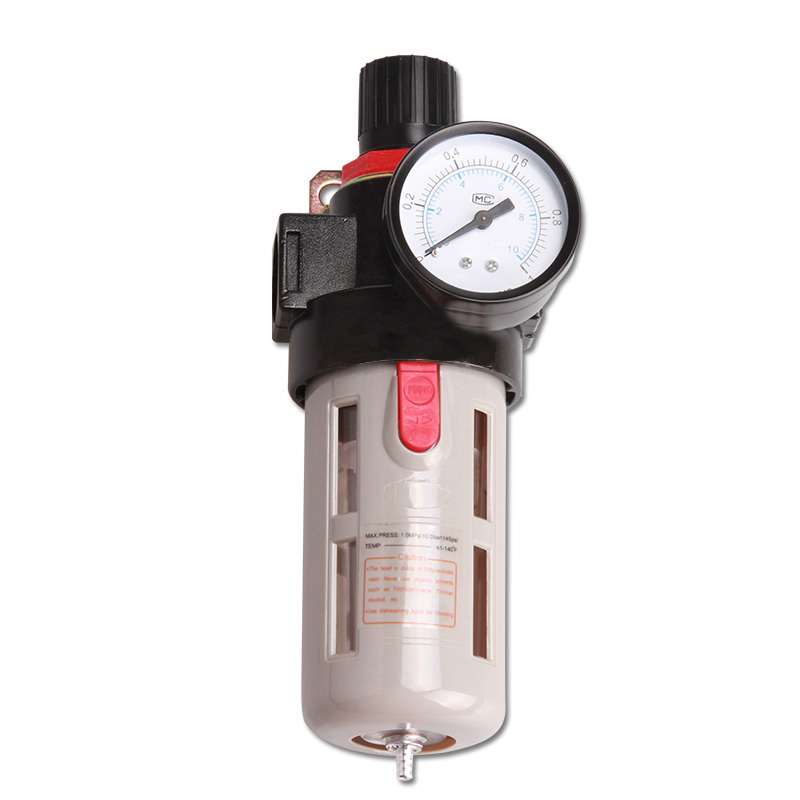 BFR 3000 3/8 Airtac Source Treatment Unit , Pneumatic Air Filter Regulator With Pressure Gauge + Cover bfr4000 pneumatic air source treatment filter regulator with pressure gauge