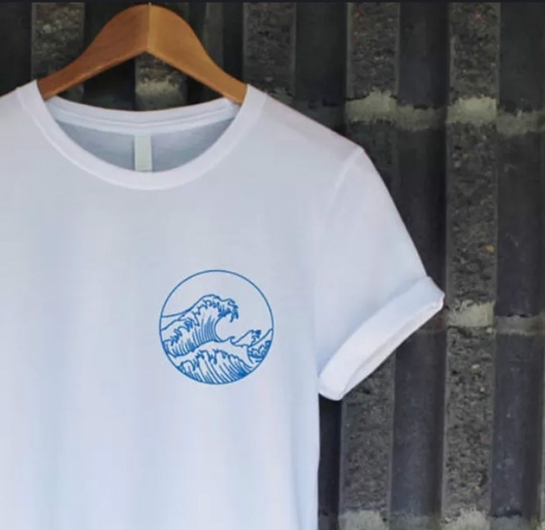 Vintage Sea Wave On Short Sleeves T-Shirts Baby Girl