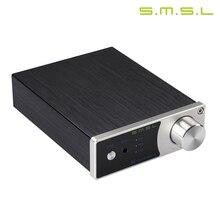 SMSL A2 HiFi 2.0 Pure Digital Audio Amplifier Input AUX/RCA Active Subwoofer Output 40W+40W LED Display EQ Setting TDA7492 DV19V