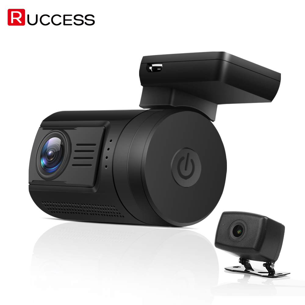 Ruccess Mini 0906 Dash Cam Car DVR Camera With Dual Lens 2-CH FULL HD 1080P Novatek 96663 GPS Tracker Bluetooth Parking Mode