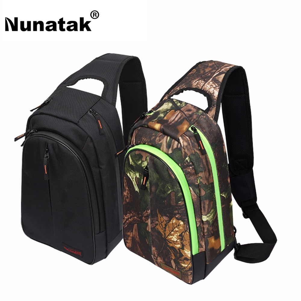 Nunatak  E5 Fishing Bag 37*26*14cm Outdoor Shoulder Bags Waterproof Lure Bag Multi-Purpose Portable Backpack Camouflage / Black 47 folding fishing rod bag tactical duel rifle gun carry bag with shoulder strap outdoor fishing hunting gear accessory bag