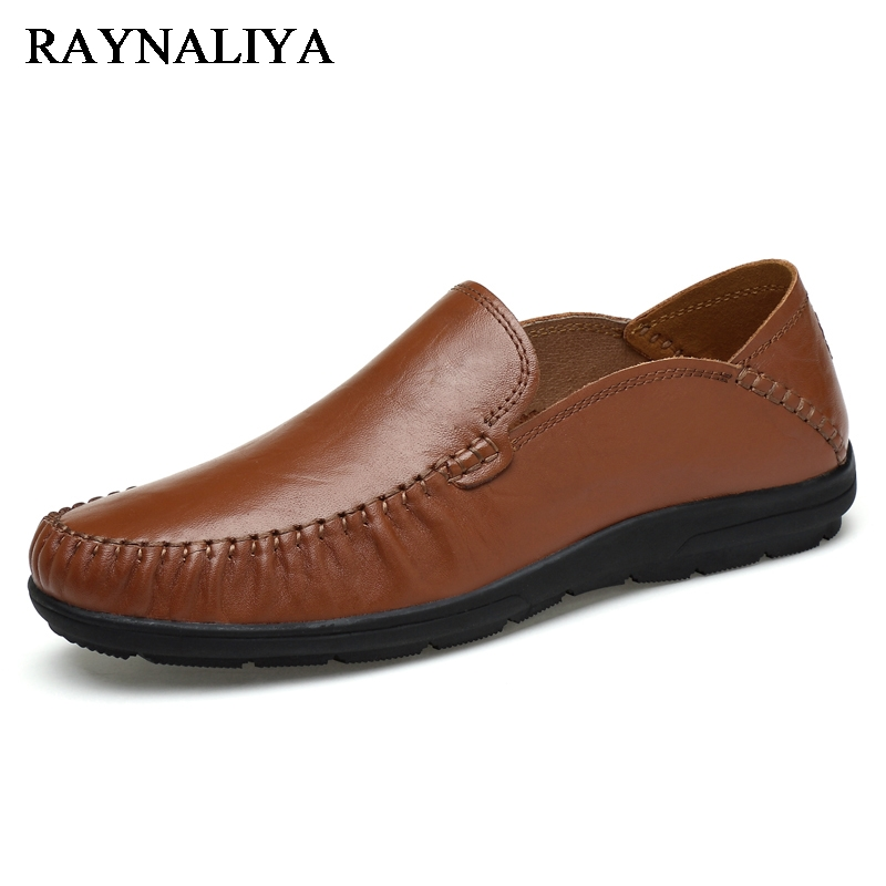 New Autumn Father Genuine Leather Shoes For Men Casual Shoes Fashion Flats Exquisite Design Comfortable Slip On Loafres LB-A0009 top quality brand slip on autumn new fashion genuine leather men casual shoes male footwear british comfortable sapato masculino
