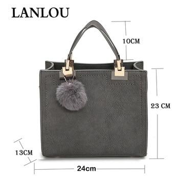LANLOU Scrub  Leather Hairball Handbag 5