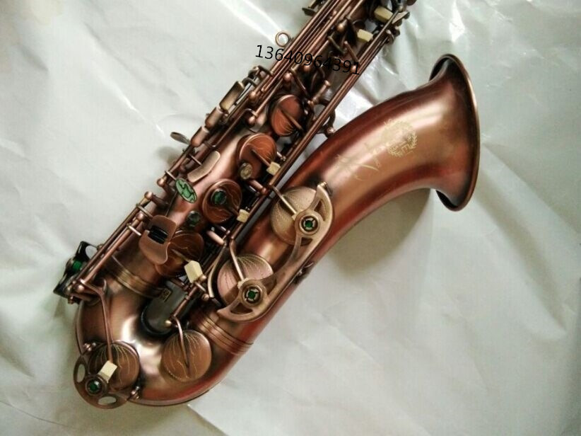 Tenor Saxophone New Sax High Henri Selmer Instruments Reference 54 Fall B Instrument Saxophone Tenor Sax Bronze Red Surface tenor saxophone instrument new selmer high quality saxophone tenor sax antique copper free shipping saxophone