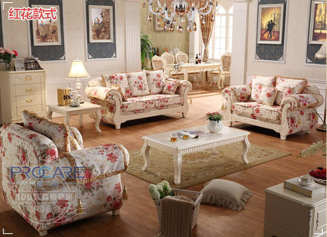 US $862.0 |2016 New Sale Bean Bag Chair Beanbag Armchair Modern Italian  Living Room Funiture For Flower Pattern Sofa Set 3+2+1 With Four-in Living  ...