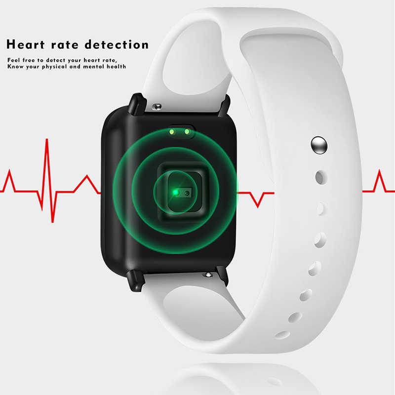 Wanita Jam Tangan Pintar Tahan Air Olahraga untuk Iphone Ponsel Smartwatch Heart Rate Monitor Tekanan Darah Fungsi untuk Anak PK Iwo + kotak