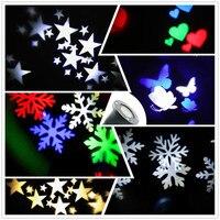 Thrisdar Snowflakes Outdoor Christmas Laser Projector Light Sky Star Led Spotlight Landscape Laser Light Wedding Party