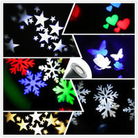 Thrisdar Snowflakes Outdoor Christmas Laser Projector Light Sky Star Led Spotlight Landscape Laser Light Wedding Party