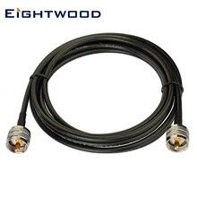 Eightwod VHF UHF PL-259 мужской RG58 кабель, совместимый с автомобилем CB Ham двухсторонний любительский мобильный радиоприемник Морская Лодка АИС антенна