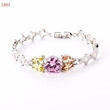 Nuevo llega joyería clásica pulsera de plata para mujer pareja regalo LB04