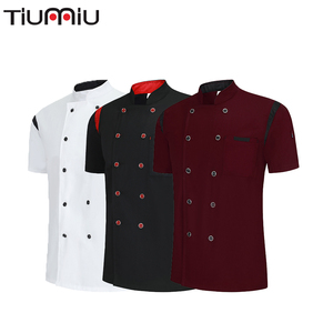 High Quality Chef Clothes Cool Breathable Bakery Dessert Women Men Summer Shirt Barbershop Cook Kochjacke Kitchen Hotel Uniform(China)