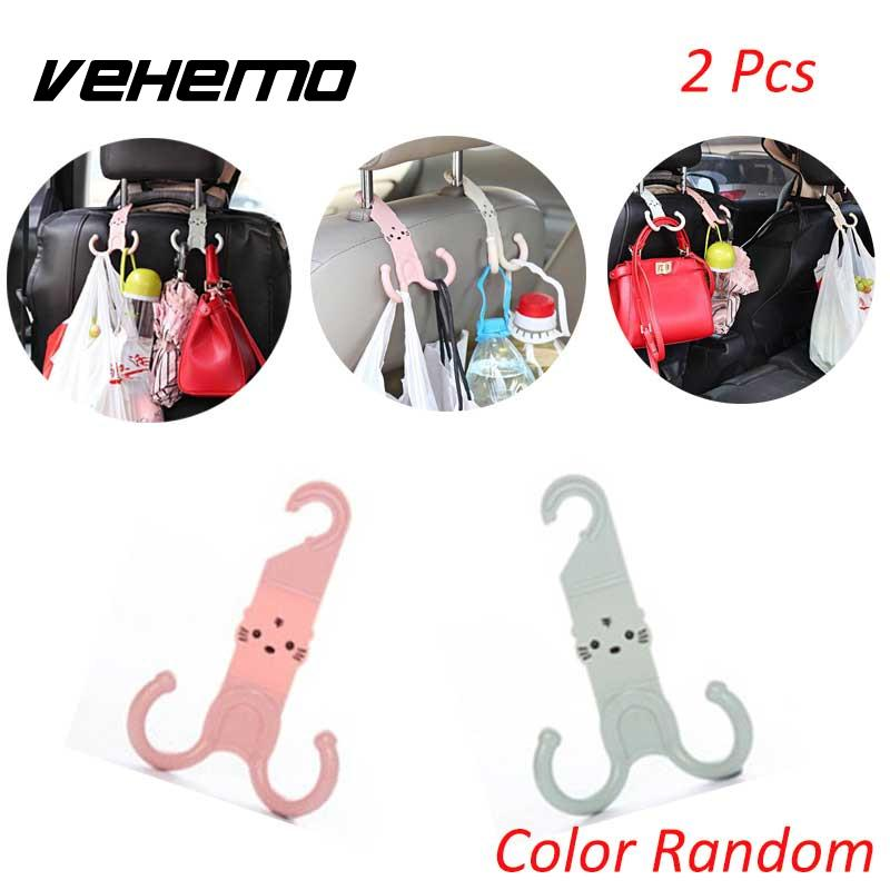 Cute Headrest Hook Car Seat Hanger Cartoon Design Plastic Stand Organizer Parts
