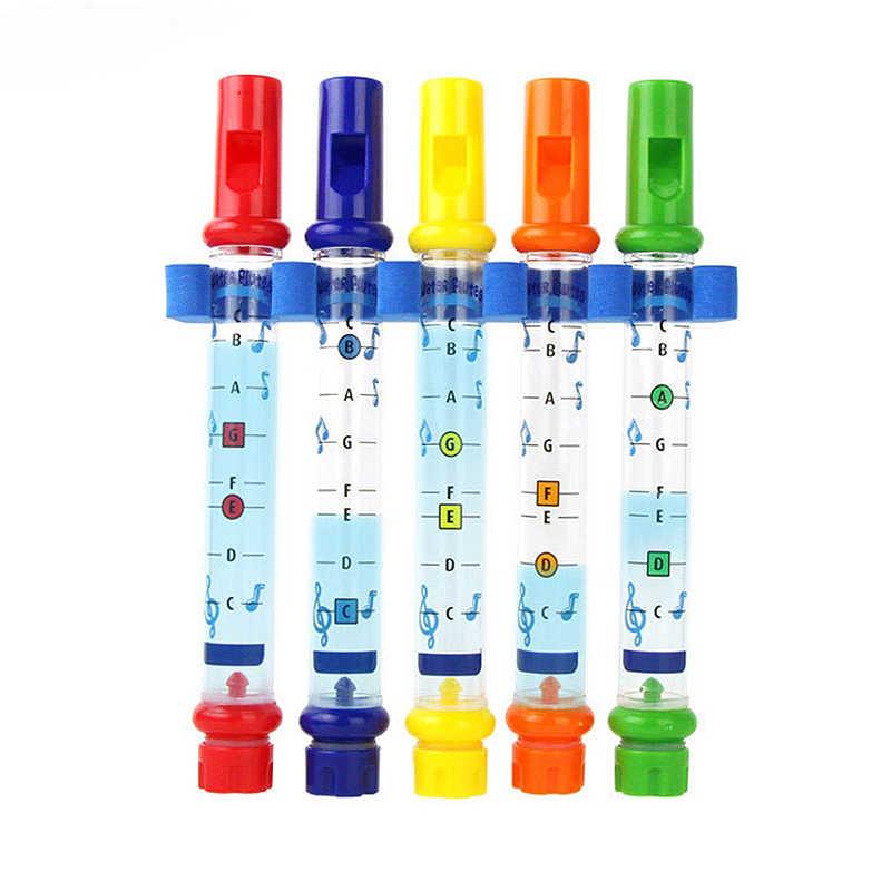 1 個水のおもちゃキッズ子供カラフルな水フルート浴槽曲おもちゃ楽しい音楽音シャワー風呂のおもちゃ子供音楽