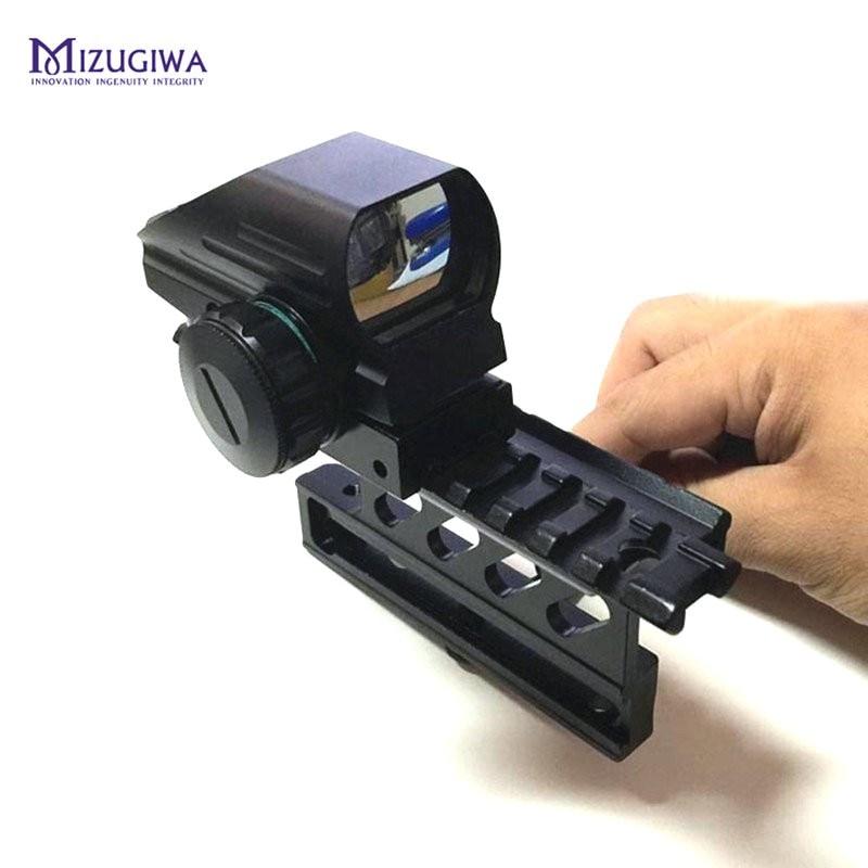 MIZUGIWA Tactical Green Red Dot Sight Reflex Scope 20mm Hunting AK Holographic 1x22x33 Reflex + AK Side Mount Quick QD 20mm element larue tactical spr m4 scope mount qd