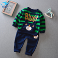 M&F Baby Clothing Sets 2017 Spring Cute Cartoon Bear Baby Boys Clothes Long Sleeve T-shirt+Pants 2Pcs Suits Children Clothing
