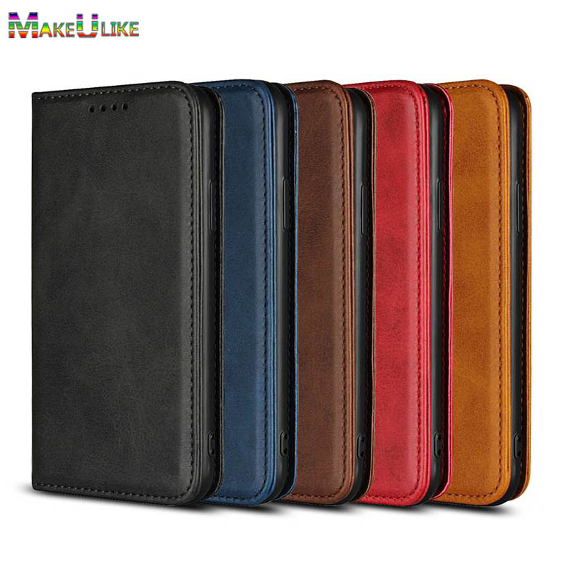 MAKEULIKE Magnetic Flip Case For iPhone 7 8 Plus Cover Retro Luxury PU Leather Phone Bag Pouch For iPhone 7 8 Plus Wallet Case