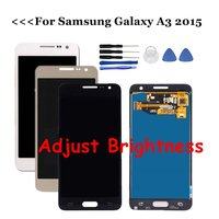 For Samsung Galaxy A3 2015 LCD A300 A300H A300F A300M LCD Display Touch Screen Digitizer Assembly Replacements Adjust Brightness