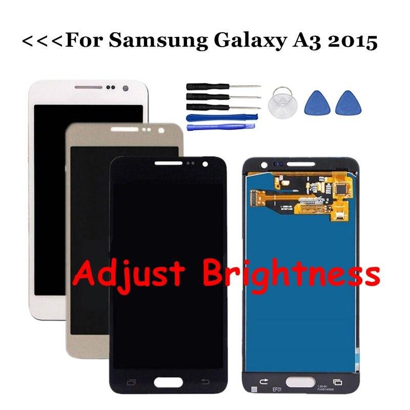 Pour Samsung Galaxy A3 2015 LCD A300 A300H A300F A300M LCD écran tactile numériseur assemblage remplacements ajuster la luminosité