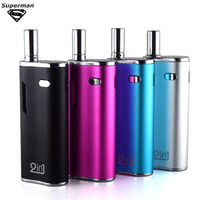 SUB TWO Vape 2 In 1 For Wax & Liquid Box Mod 2 In 1 Vaporizer Atomizer 650mah Vape Pen Hookah E Cigarettes Kit 4 Colors