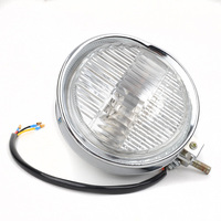 Mayitr Chrome H4 55w Universal Motorcycle Headlight Headlamp Halogen Bulb Light For Harely