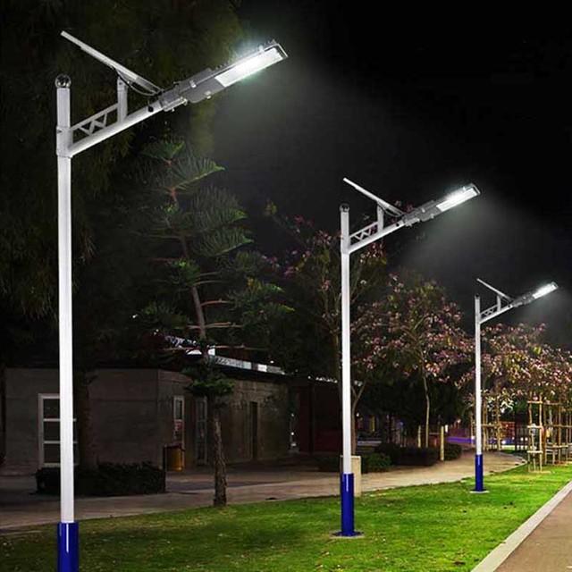 BEYLSION LED Solar Street Light Solar Light Outdoors Solar Street Lights Solar Lamps  Outdoor Lamps 50W 100W + Remote Controller 6